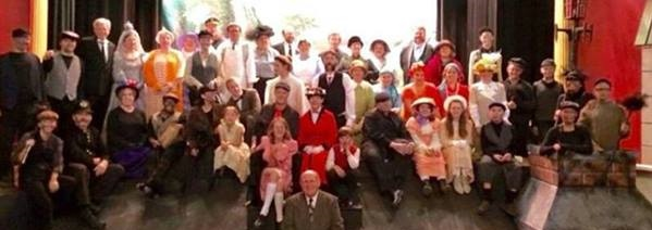 Cast of Mary Poppins, October 2015